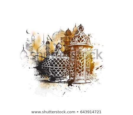 Elegancki festiwalu dekoracyjny lampy banner szczęśliwy Zdjęcia stock © SArts