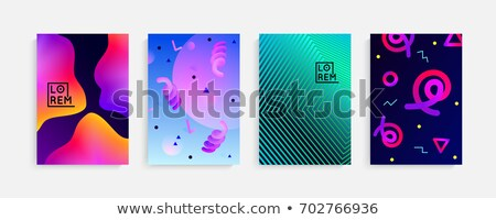 Stock photo: modern vibrant abstract gradient memphis style background