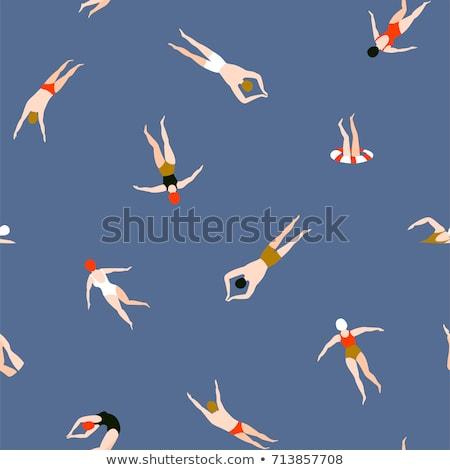 Zwembad illustratie top jonge vrouwen Stockfoto © Sonya_illustrations