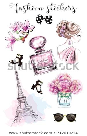 Zestaw wektora perfum moda eps 10 Zdjęcia stock © netkov1