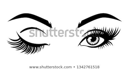 Vintage eyelash extension emblems Stock photo © netkov1