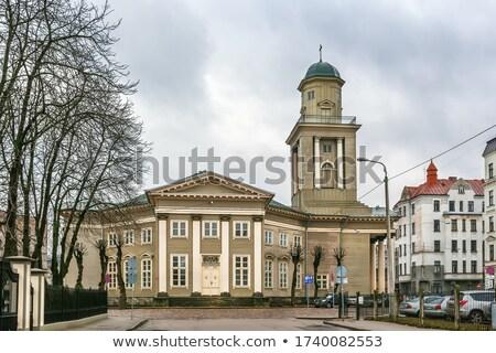 Kilise İsa Riga Letonya Bina Stok fotoğraf © borisb17