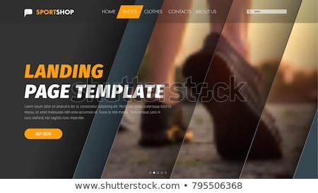 Digital apresentação aterrissagem página modelo estratégia de marketing Foto stock © RAStudio