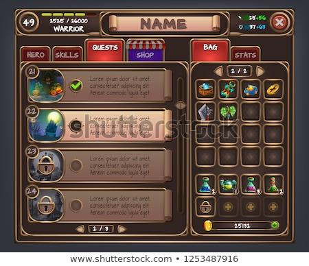Gry ui menu aplikacja komórkowych app Zdjęcia stock © vector1st