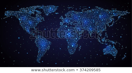 City lights on world map. Africa. Stock photo © NASA_images