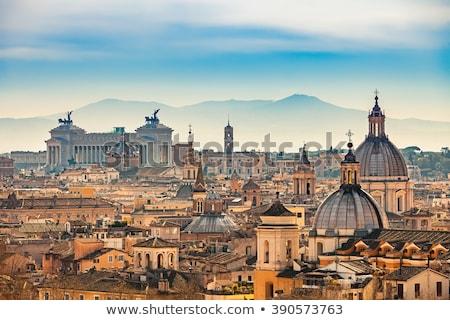 Kilátás Róma ablak Vatikán múzeum égbolt Stock fotó © borisb17