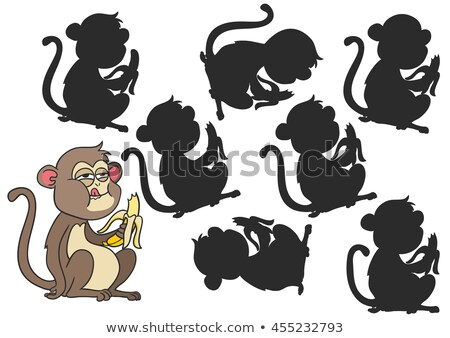 differences game with monkeys animal characters Stock photo © izakowski