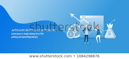 Affiliate marketing concept vector illustration. Stock photo © RAStudio