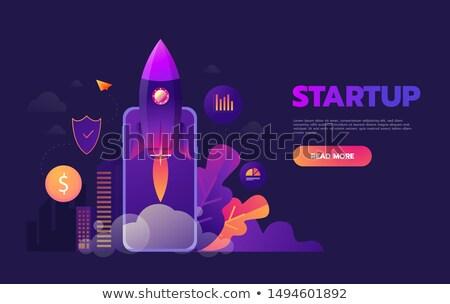 équipe développement démarrage vaisseau spatial fusée commencer Photo stock © robuart