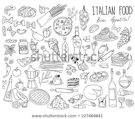 pizza · Italiaans · keuken · studio · witte - stockfoto © fanfo