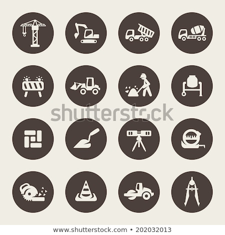 建設作業員 サークル セット コレクション ストックフォト © patrimonio