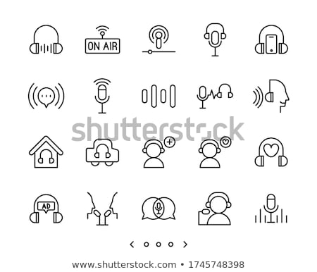 Podcast icon business telefoon microfoon Stockfoto © bspsupanut
