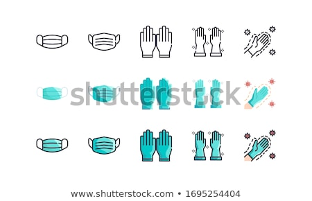 Protective Glove Icon Vector Outline Illustration stock photo © pikepicture