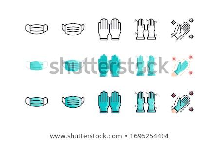 handschoen · icon · vector · schets · illustratie · teken - stockfoto © pikepicture