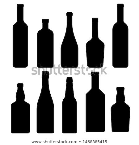 посуда бутылок напитки очки вектора Сток-фото © ayaxmr