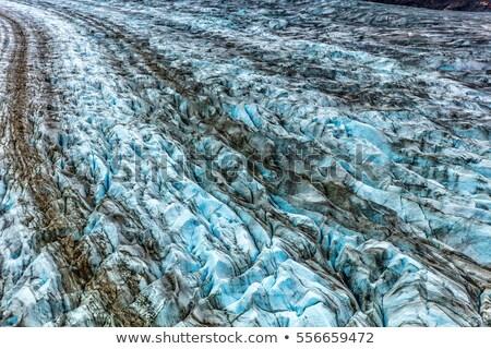 氷河 腕 青 氷 テクスチャ ストックフォト © Maridav