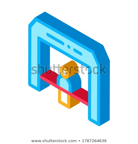 Finish Tape Person Crosses Finish Line isometric icon vector illustration Stock photo © pikepicture