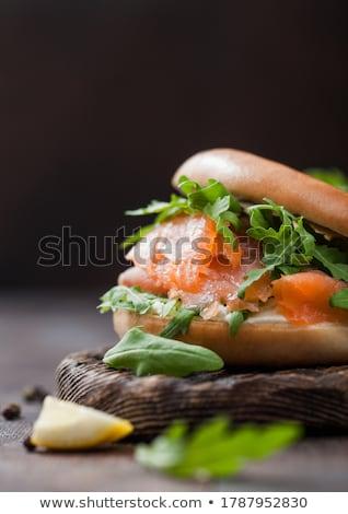 Fresche panini salmone crema formaggio Foto d'archivio © DenisMArt