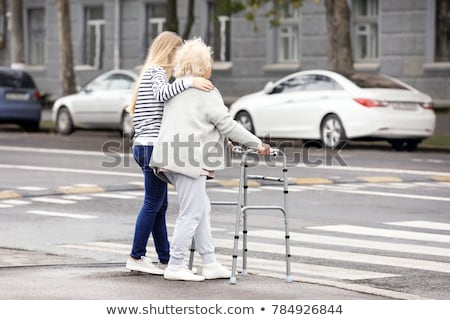 Stock photo: The Cross Walkers