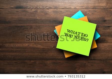 wat · behoefte · woorden · Blackboard · kleurrijk · teken - stockfoto © Ansonstock