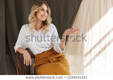 portret · przepiękny · portret · kobiety · kobieta · biały · strony - zdjęcia stock © Rob_Stark