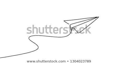 Airplanes silhouettes 1 Stock photo © lkeskinen