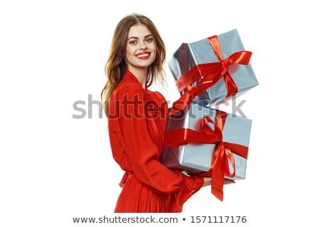 現在 · 女性 · お祝い · ホールド · 幸せ · 小さな - ストックフォト © shutswis