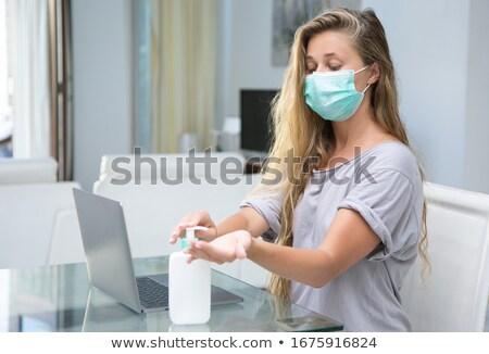járvány · nagybácsi · visel · műtősmaszk · védelmez · betegség - stock fotó © lisafx