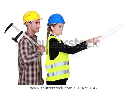 Tradesman following an engineer's orders Stock photo © photography33