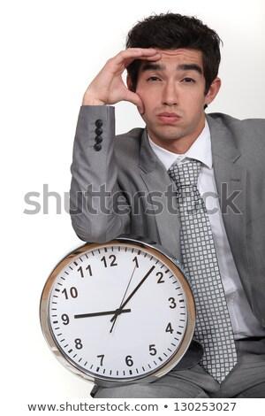 manager · lijden · hoofdpijn · portret · jonge · afro-amerikaanse - stockfoto © photography33