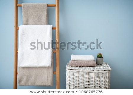 colored bathroom towels stock photo © kitch