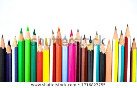 Colourful pencil peels Stock photo © elxeneize
