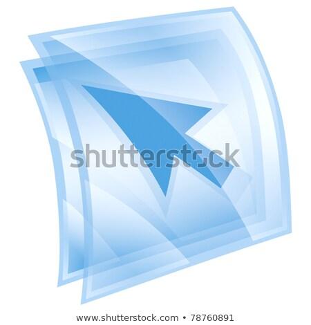 pijl · icon · ijs · geïsoleerd · witte · toetsenbord - stockfoto © zeffss