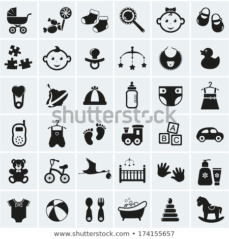 Vector icon baby shoes Stock photo © zzve
