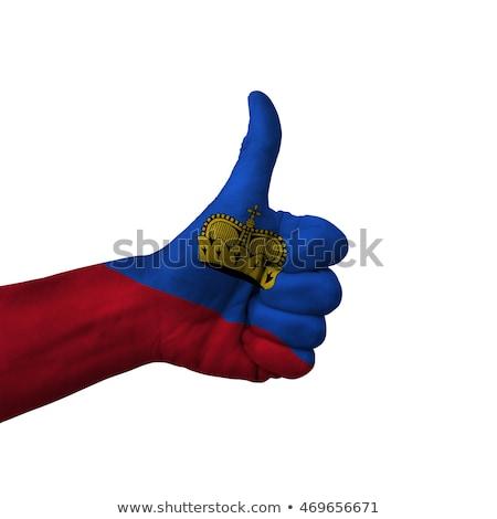 Liechtenstein bandeira polegar para cima gesto excelência Foto stock © vepar5