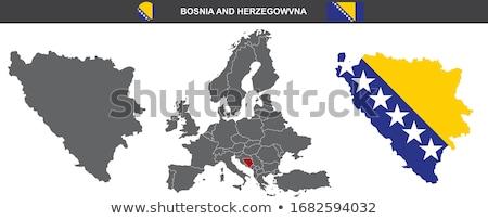 Bosnia Herzegovina mapa administrativo ciudad país Foto stock © Volina
