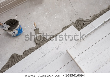 maison · tuiles · outils · niveau · construction - photo stock © simazoran