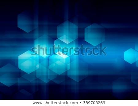 аннотация · искусства · синий · вектора · многоугольник · бесшовный - Сток-фото © frostyara