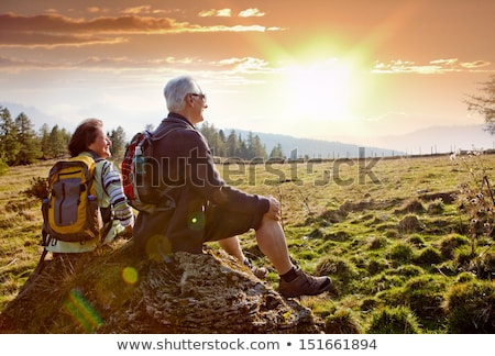 actieve · senioren · twee · senior · vrouwen · opleiding - stockfoto © richardjary