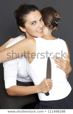 diabolic looking woman with a knife Stock photo © Rob_Stark