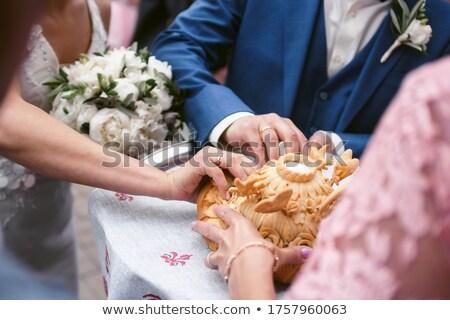 Casamento pão comida casa trigo carne Foto stock © mycola