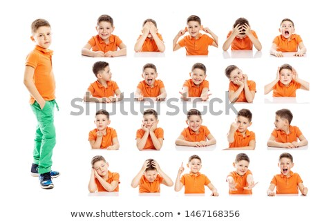 Grimacing boy Stock photo © Novic