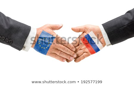 EU and Russia reach out their hands Stock photo © Zerbor