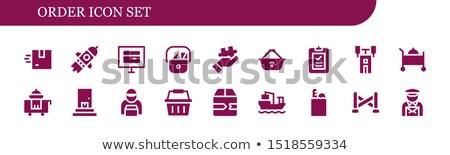 Vektor szállítmány ikon szett 18 izolált fehér Stock fotó © dashadima
