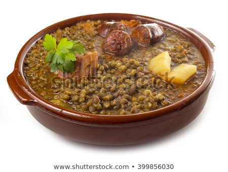 lentil with vegetable and sausage stock photo © m-studio