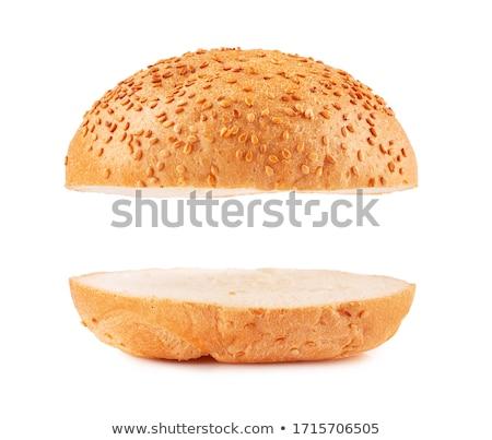 ハンバーガー · サラダ · 白 · 食事 · 不健康 - ストックフォト © neillangan