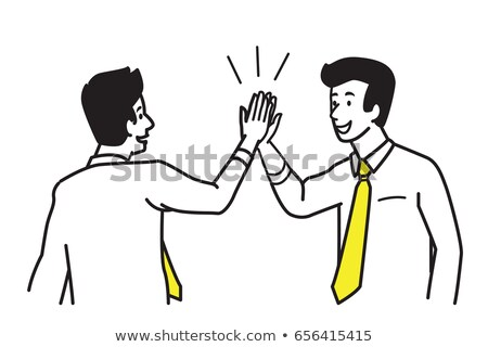 two young businessmen giving consent Stock photo © alexandrenunes