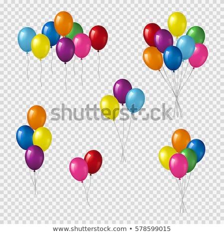Partij ballonnen witte kinderen gelukkig Stockfoto © dezign56