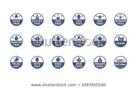 vector icons for allergens free products stock photo © orson
