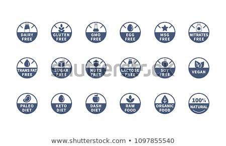 Vetor ícones livre produtos leite Foto stock © orson
